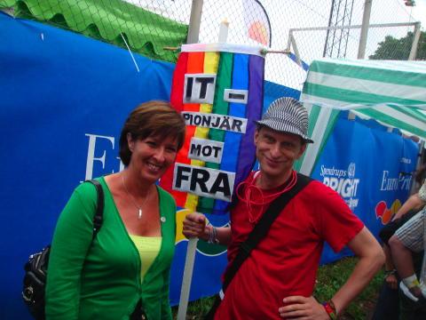 Mona Sahlin och Oscar Swartz Europride 2008